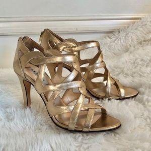LK Bennett Alanise Soft Gold Heels